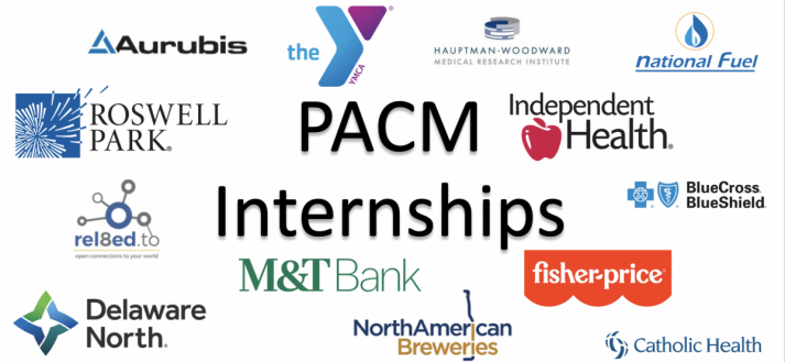 Logos of companies PACM students have interned with